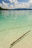 Pedazo de madera flotante en el mar Imagen de archivo