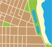 Pedazo de mapa Fotos de archivo