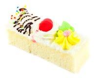 Pedazo de mini torta Imágenes de archivo libres de regalías