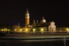 Pedazo de noche de Venecia Fotografía de archivo