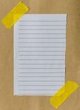 Pedazo de papel alineado Imagen de archivo libre de regalías