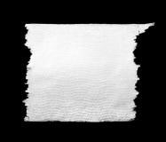Pedazo de papel higiénico blanco Foto de archivo libre de regalías