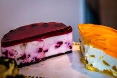 Pedazo de pastel de queso Fotografía de archivo