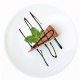 Pedazo de pastel de queso del chocolate Fotos de archivo libres de regalías