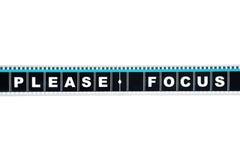 Pedazo de película del movimiento de 35 milímetros Imagen de archivo libre de regalías