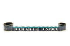 Pedazo de película del movimiento de 35 milímetros Imágenes de archivo libres de regalías