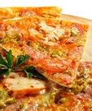 Pedazo de pizza de la carne Foto de archivo libre de regalías