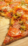 Pedazo de pizza de la carne Fotografía de archivo libre de regalías