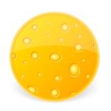 Pedazo de queso stock de ilustración