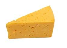 Pedazo de queso fresco Foto de archivo