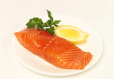 Pedazo de salmones Imágenes de archivo libres de regalías