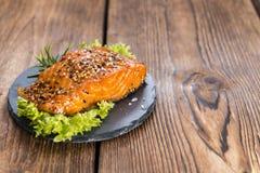 Pedazo de salmones fumados Foto de archivo libre de regalías
