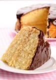 Pedazo de tarta de crema de Boston foto de archivo