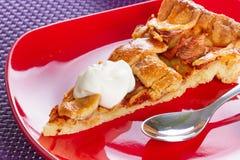 Pedazo de tarta de la manzana Imagen de archivo libre de regalías