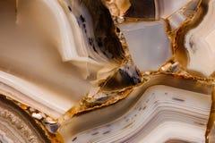 Pedazo de textura pulida de la ágata Imagen de archivo