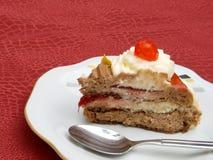 Pedazo de torta Imagen de archivo libre de regalías