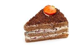 Pedazo de torta aislado Imagen de archivo libre de regalías
