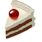 Pedazo de torta con la cereza Imagen de archivo libre de regalías