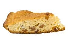 Pedazo de torta con las pasas Foto de archivo libre de regalías