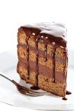 Pedazo de torta de chocolate Imagenes de archivo