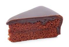 Pedazo de torta de chocolate Foto de archivo libre de regalías