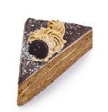 Pedazo de torta de chocolate fotografía de archivo