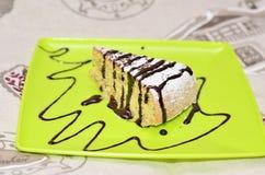 Pedazo de torta de maíz Foto de archivo libre de regalías