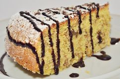 Pedazo de torta de maíz Fotos de archivo