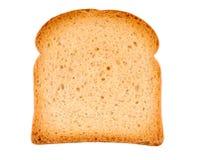 Pedazo de tostada aislado en blanco Imagenes de archivo