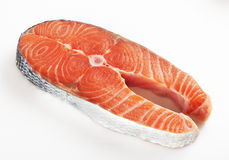 Pedazo de un salmón Imagen de archivo libre de regalías