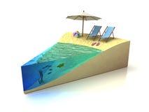Pedazo de vacaciones libre illustration