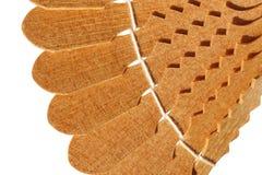 Pedazo decorativo de productos de madera Fotos de archivo