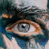 Pedazo del amo del arte del ojo imágenes de archivo libres de regalías