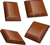 Pedazo del chocolate   Imagenes de archivo