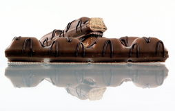 Pedazo del chocolate imágenes de archivo libres de regalías