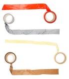 Pedazo del palillo de la cinta adhesiva Imagenes de archivo