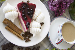 Pedazo del pastel de queso delicioso 31 Fotografía de archivo libre de regalías