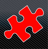 Pedazo del rompecabezas de rompecabezas stock de ilustración