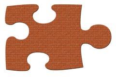 Pedazo del rompecabezas del ladrillo stock de ilustración