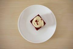 Pedazo delicado de pequeña torta de chocolate Fotografía de archivo libre de regalías