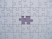 Pedazo faltado de los rompecabezas Imagen de archivo