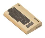 Pedazo isométrico del ordenador 8 del vintage aislado en blanco imagen de archivo libre de regalías