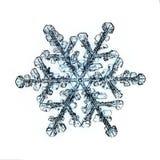 Pedazo macro del copo de nieve cristalino natural de hielo Foto de archivo libre de regalías