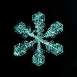 Pedazo macro del copo de nieve cristalino natural de hielo Foto de archivo