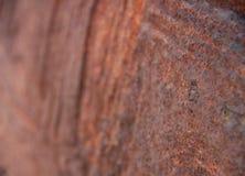 Pedazo oxidado encontrado en la playa foto de archivo libre de regalías