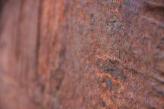 Pedazo oxidado encontrado en la playa imagen de archivo libre de regalías