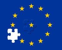 Pedazo perdido de los rompecabezas de la UE stock de ilustración