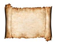 Pedazo revelado de fondo del papel de la antigüedad del pergamino Imágenes de archivo libres de regalías