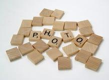 Pedazos 2 del Scrabble Foto de archivo libre de regalías