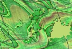 Pedazos abstractos verdes ácidos del rompecabezas Imágenes de archivo libres de regalías